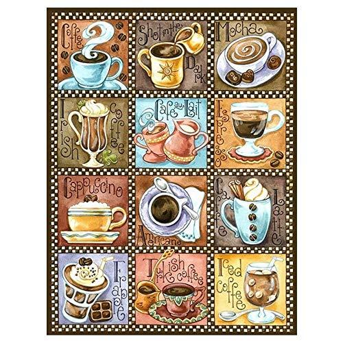 YGYGYG Rompecabezas de Vino 3000 Piezas Variedad de café Educativo Gran Juego de Rompecabezas difícil 110 * 87cm