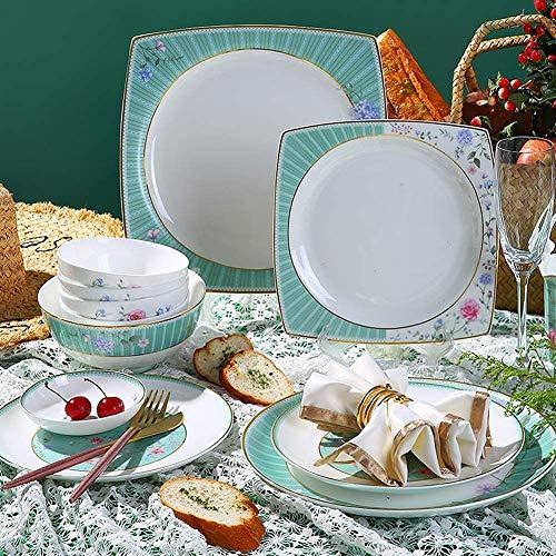 FGVBC Vajilla de cerámica, Juego de vajilla, Platos/Plato/Cuenco/Juego de Taza, Juegos de vajilla de Porcelana Fina, Juegos de vajilla de cerámica, vajilla de Navidad, Juegos de Cocina para el hogar,