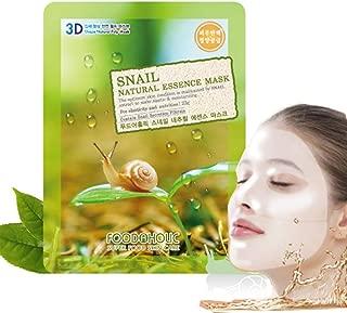 [Food A Holic] 3D Shape Natural Essence Pulp Mask 23g / Korean Cosmetics / Snail (mask pack 30ea)