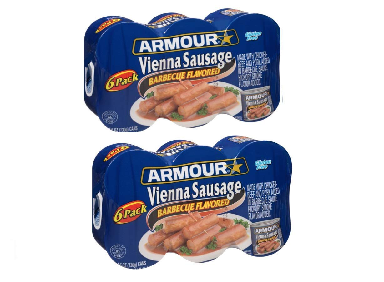 Max 55% OFF Armour Vienna Sausage - Barbrcue Flavored 4 years warranty 4.6oz each 2 6 cans P