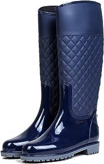 comprar comparacion AONEGOLD Botas de Agua Mujer Botas de Lluvia Impermeable Altas Bota de Goma Wellington Boots Otoño e Invierno