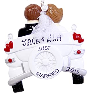 Best rudolphandme Personalized Just Married Wedding Car Christmas Ornament 2020 Review