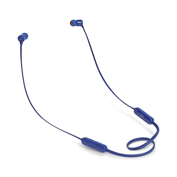 (Renewed) JBL T160BT Pure Bass Wireless in-Ear Headphones with Mic (Blue)