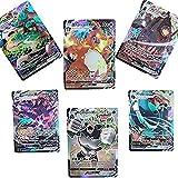 MRZJ Juego de 100 cartas Pokémon VMAX V GX, Flash Trading Puzzle 2021...