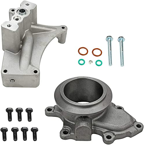 Turbo Pedestal w/Bolts and Exhaust Housing Kit, Replacement for 1999.5-2003 Ford Powerstroke Diesel Turbo Engine 7.3L, Non-EBP Valve