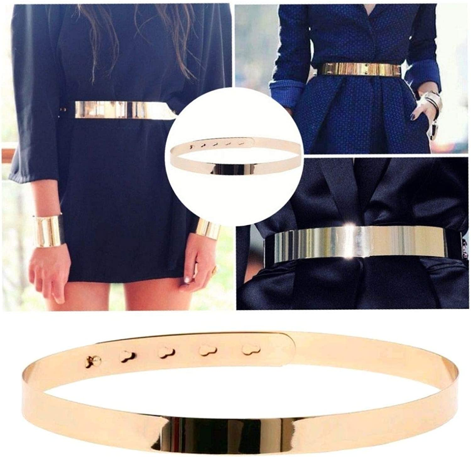 gold BELT For Women Adjustable gold Mirror Belt for women dresses by Hybrid Fashionista gold Accessories