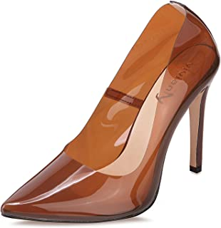 vivianly Sexy High Heels Pointy Toe Pumps Transparent Stiletto Cinderella Shoes for Women