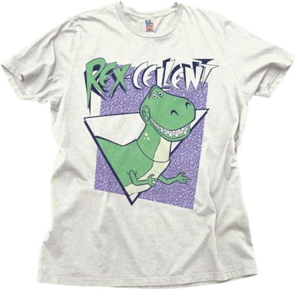 Junk Food Toy Story Rex-Cellent Rex Adult White T-Shirt