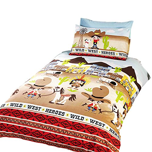 Wild West Childrens/Boys Single (Twin) Duvet Cover Bedding Set (Twin) (Multicolored)