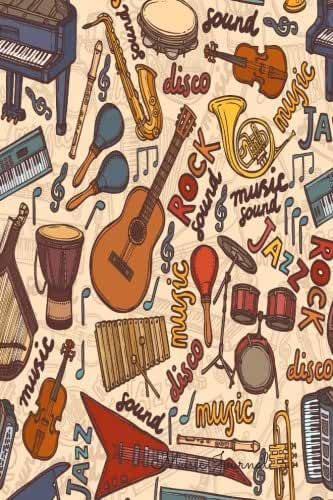 Music Journal: Lined/Ruled Paper And Staff, Manuscript Paper For Notes, Lyrics And Music. For Musicians, Music Lovers, Students, Songwriting. Book Notebook Journal 100 Pages  6x9in