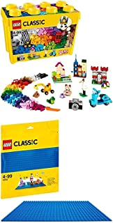 レゴ (LEGO) クラシック 黄色のアイデアボックス スペシャル 10698 & クラシック 基礎板(ブルー) 10714