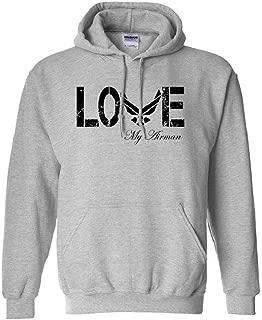 Love My Airman Hooded Sweatshirt in Sport Gray