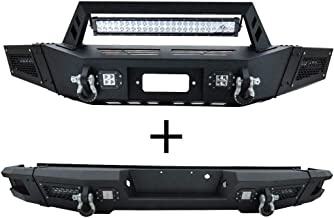 Vijay Ford Front and Rear Bumper Texture Black with 9 LED Lights for 09-14 Ford F150 (Excluding Raptor)
