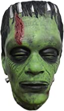 Trippy Lights Frankenstein Adult Halloween Cosplay Overhead Latex Green Monster Mask