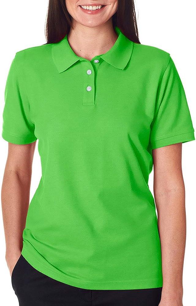 Ultraclub Ladies' Platinum Honeycomb Piqué Polo Shirt