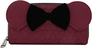 Loungefly Minnie Mouse Quilted Burgundy Wallet