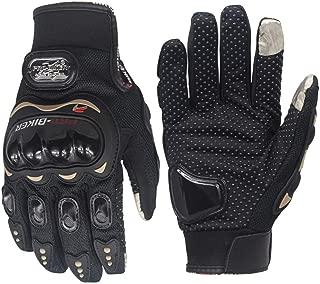 Men's Carbon Fiber Shell Hard Knuckle Touchscreen Motocross Motorcycle Bicycle Motorbike Gloves Full Finger