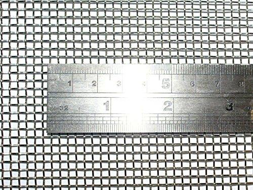 産業用金網 ステンレス平織金網 線径0.80mm:8メッシュ 開目2.5mm[幅300mm×高600mm] ネズミ侵入防止 防鼠金網 ガーデンワイヤーネット キャビネット メッシュ 網戸メッシュ(3)