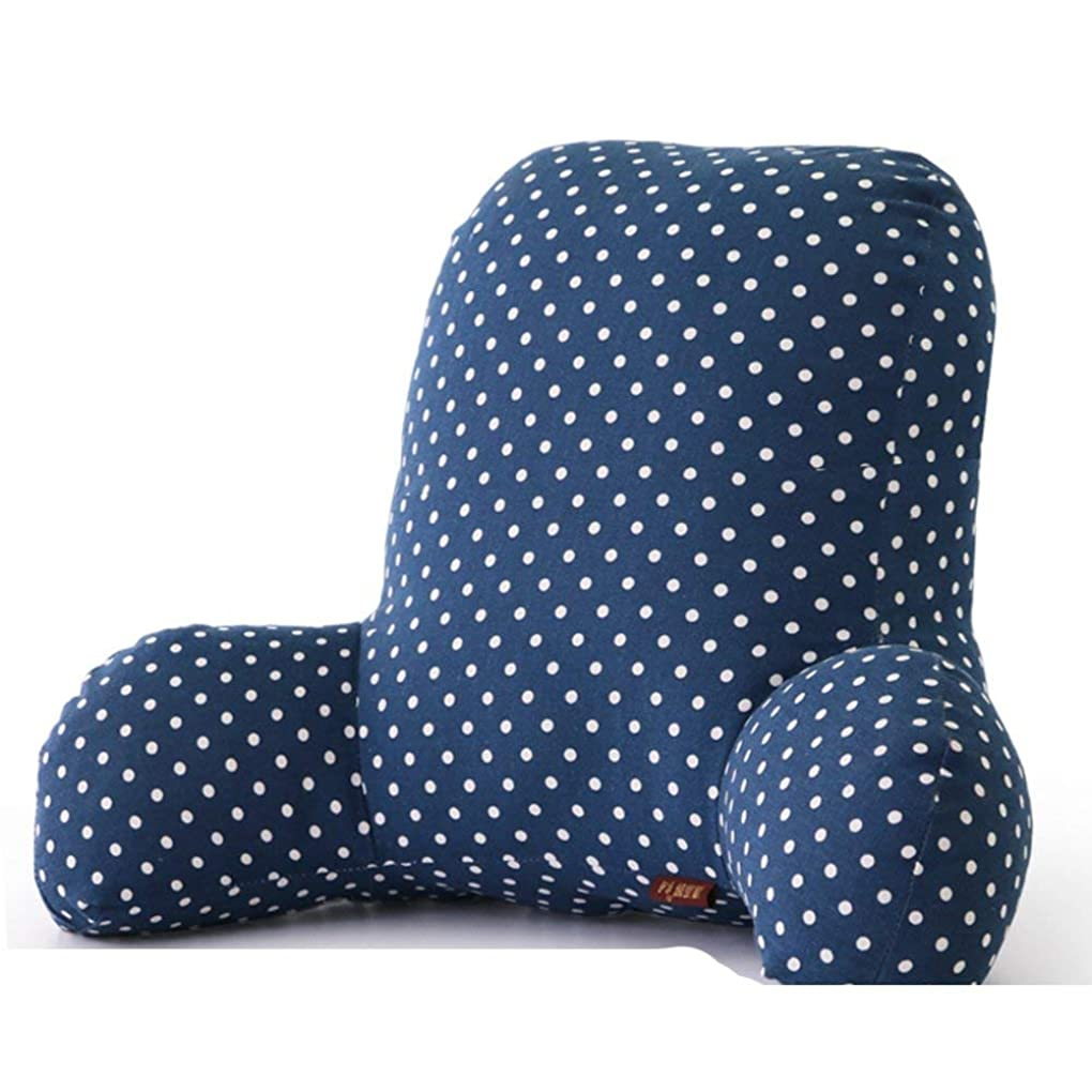 満州たくさんの電球2J-QingYun Trade ベッド背もたれクッション、ウエストシートバッククッション枕オフィスウエストクッション妊娠中の女性ベッドサイドクッション (Color : A, サイズ : 55x35x20cm(22x14x8inch))