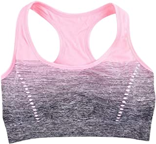 Female Gradient Underwear Shock-Proof Yoga Sports Bra Top