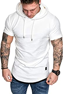 Big Mens Solid Casual Hoodie Autumn Winter Top Tracksuit with Pocket