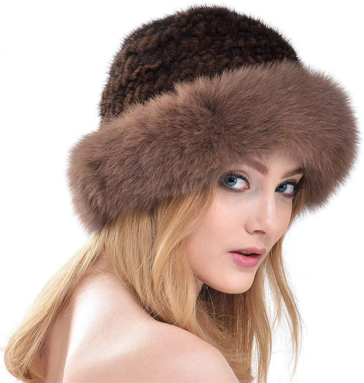 Ladies Warm Hat Fashion Natural Fiber Cap Autumn and Winter Earmuffs