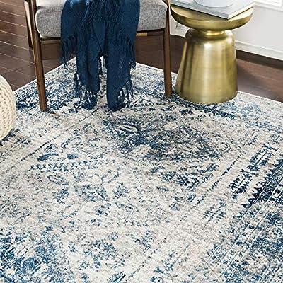 "Artistic Weavers Desta Blue/White Area Rug, 6'7"" x 9'"