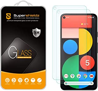 (2 Pack) Supershieldz Designed for Google Pixel 5 Tempered Glass Screen Protector, 0.33mm, Anti Scratch, Bubble Free