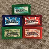 GBA ポケットモンスターエメラルド ファイアレッド リーフグリーン ルビー サファイア ゲームボーイアドバンス 5本セット