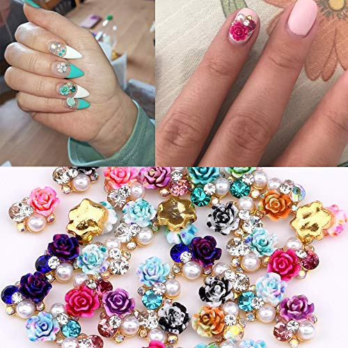 36pcs Colored Flowers 3d Nail Jewelry...