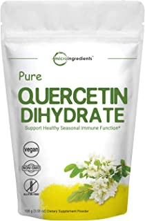 Maximum Strength Pure Quercetin Dihydrate Powder, 100 Gram, Powerfully Supports Energy, Immune Health and Antioxidant, No ...