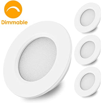 Amazon Com Dream Lighting 12volt Led Interior Downlights Under Cabinet Lighting For Rv Caravan Campervan Boat Ceiling Lighting Fixture Warm White White Shell Pack Of 6 Automotive