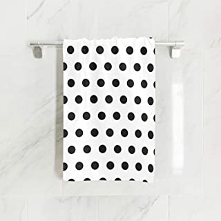Hand Towels, 15 x 30 inch Polka Dot Colorful Black and White Absorbent Durable Towels for Home and Outdoor Use