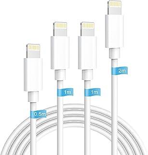 iphone 充電ケーブル 純正ライトニングケーブル 4本セット0.5m+1.0m*2+1.8m 急速充電 lightningケーブル アイホン充電ケーブル 急速データ転送 断線防止 高耐久コネクタ採用 対応機器iPhone12 11 8 7 ...
