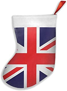 KSSChr Union Jack Christmas Stockings,Stocking for Gifts,Christmas Eve Hanging,Tree Ornament, Home Decor