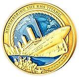 Power Coin Remembering The Rms Titanic 35 Aniversario 3 Oz Moneda Oro 25$ Solomon Islands 2021