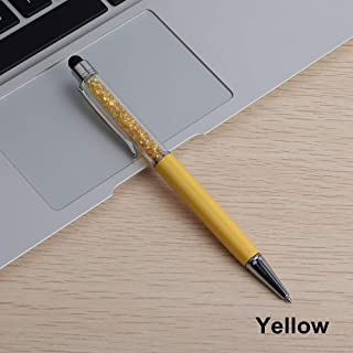 1 Pcs Creative Crystal Pen Diamond Ballpoint Pens Stationery Ballpen Stylus Pen Touch Pens For School Blue Black Refill 0.7 mm