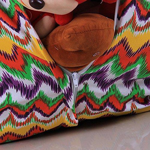 Zarupeng Sitzsack Kinder Stofftier Kuscheltiere Aufbewahrung Beutel Sitzsack Sitzbezug Stuhl Sessel Sofa Gaming nur Bezug