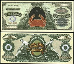 American Art Classics Cancer Zodiac Million Dollar Novelty Bill Collectible in Collector Grade Currency Holder