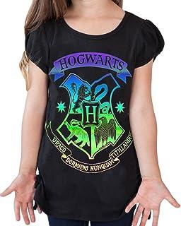 Disney Harry Potter Youth Girls Fashion Top Side Tie Hogwarts Crest