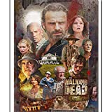 walking dead drawing poster - Full Round Drill 5D DIY Diamond Painting Tv The Walking Dead Poster Diamond Embroidery Balloon Wall Home Decoration Kids Gift 40x50cm