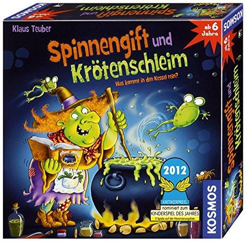 KOSMOS 698652 - Spinnengift und Krötenschleim: Was kommt in den Kessel rein? lustiges Merkspiel für 2 - 4 Spieler, Kinderspiel ab 6 Jahre