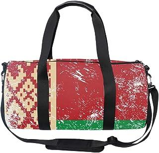 Oversized Belarus Retro Flag Travel Tote Luggage Weekend Duffel Bag