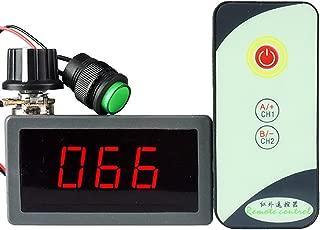 uniquegoods 6V 12V 24V 5A PWM DC Motor Speed Controller with LED Digital Display IR Remote Control Regulator