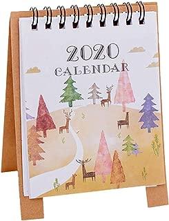 Hsada_Home Storage HSada Desk Monthly Calendar Jan 2020 to Dec 2020 - Cute Cartoon Mini Table Desk Calendar Monthly Planner Daily Calendar Planner for Students, Office Workers, Housewives(12.5x9.5cm)