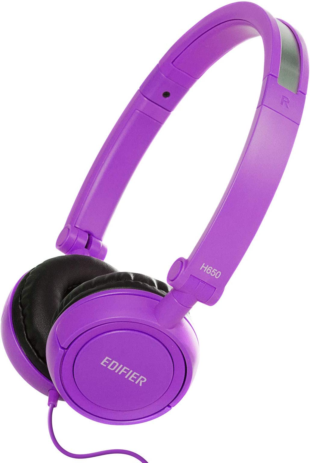 Edifier H650 Headphones - Hi-Fi On-Ear Wired Stereo Headphone, Ultralight and Fold-able - Purple/Violet
