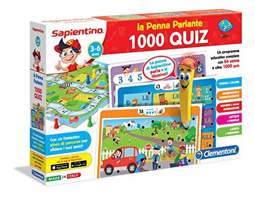 Clementoni - Penna Basic - Jeu avec Stylo (Version Italienne) 1000 Quiz