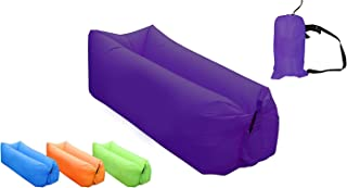 AB VOLTS Fast Inflatable Lounger Portable Outdoor Indoor Wind Bed Lounger, Air Bed Sofa, Air Sleeping Sofa, Inflatable Couch, Lazy Bed Camping Accessories, Portable Hammock, Beach, Park.
