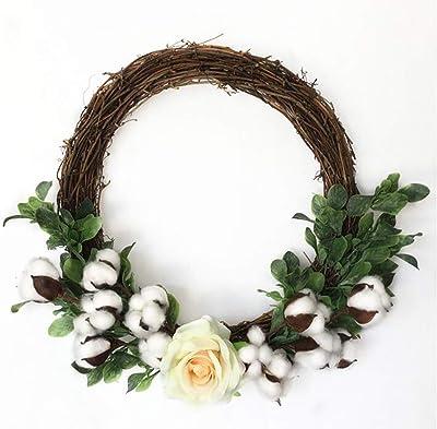 Alger Flores artificiales de la guirnalda de la Navidad algodón ...