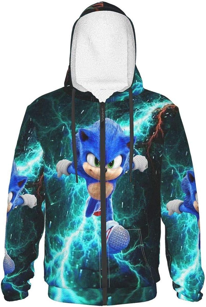 Popularity Teen Sonic-Hedgehog Hoodie Long Sleeve With Pullover Zip-Up Max 64% OFF Anim